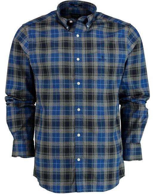 Gant D1. Melange Herringbone Check 3028230/435 in het Blue voor heren