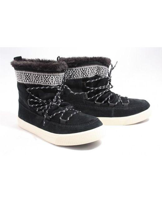 TOMS Waterafstotende Zwarte Suède Alpine Boots in het Black