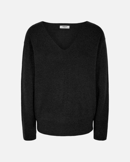 Moss Copenhagen 14592 Jilli V Pullover in het Black