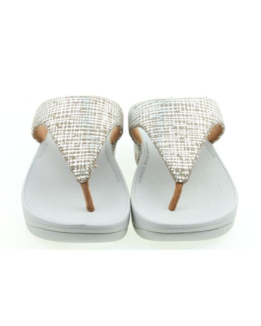Fitflop Slippers in het Metallic