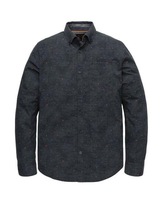 PME LEGEND Psi205226 5288 Overhemd Poplin Legend in het Blue voor heren