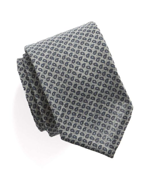 Todd Snyder | Blue Mini Paisley Silk Wool Tie In Navy for Men | Lyst