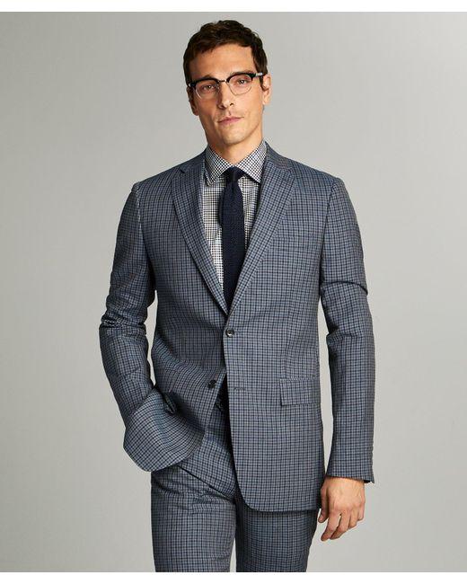 Todd Snyder Blue Sutton Wool Linen Suit Jacket for men