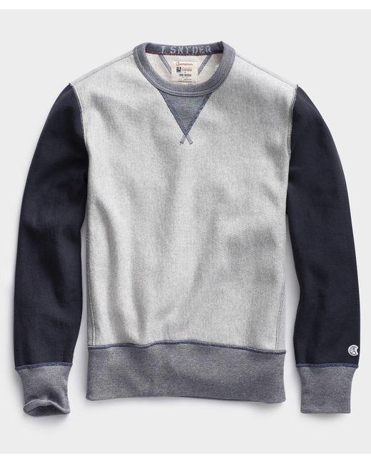 Todd Snyder Gray Colorblock Sweatshirt for men