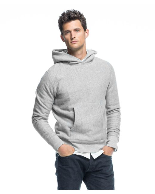 Todd Snyder - Gray Popover Hoodie In Light Grey Mix for Men - Lyst