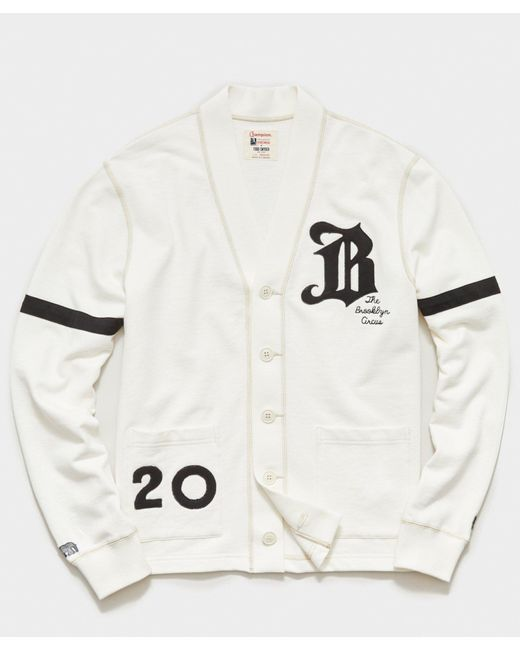 Todd Snyder White Brooklyn Circus Knit Cardigan for men
