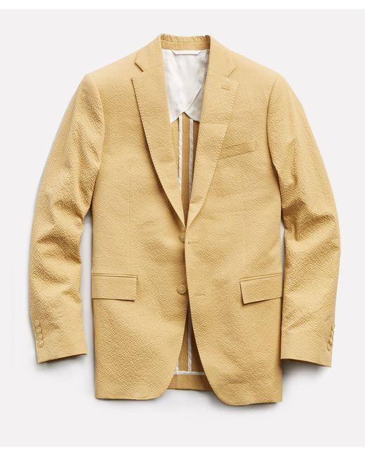 Todd Snyder Yellow Sutton Seersucker Suit Jacket for men