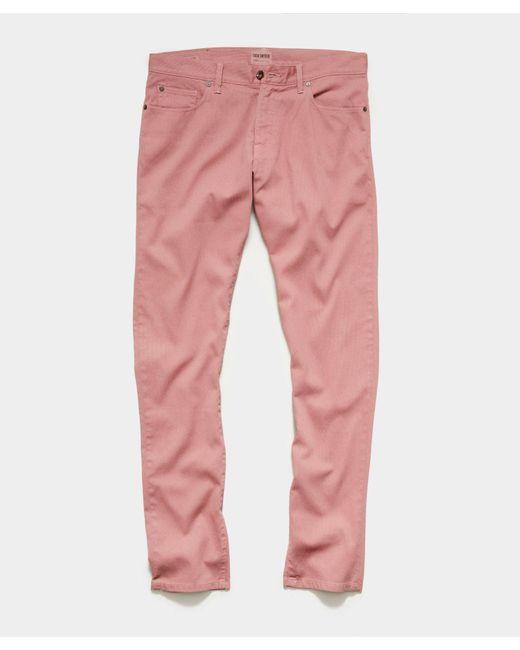 Todd Snyder Pink Slim Fit 5-pocket Bedford Cord Pant In Rosewine for men