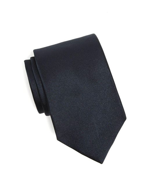 Drake's - Blue Solid Silk Tie In Navy for Men - Lyst