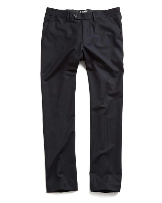 Todd Snyder - Hudson Tab Front Chino Pant In Black for Men - Lyst
