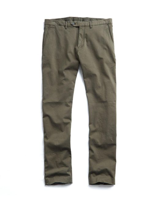 Todd Snyder - Green Extra Slim Fit Tab Front Stretch Chino In Olive for Men - Lyst