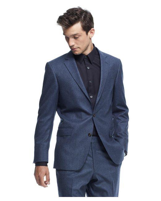 Todd Snyder | Sutton Suit Jacket In Italian Petrol Blue Heather Wool Flannel for Men | Lyst
