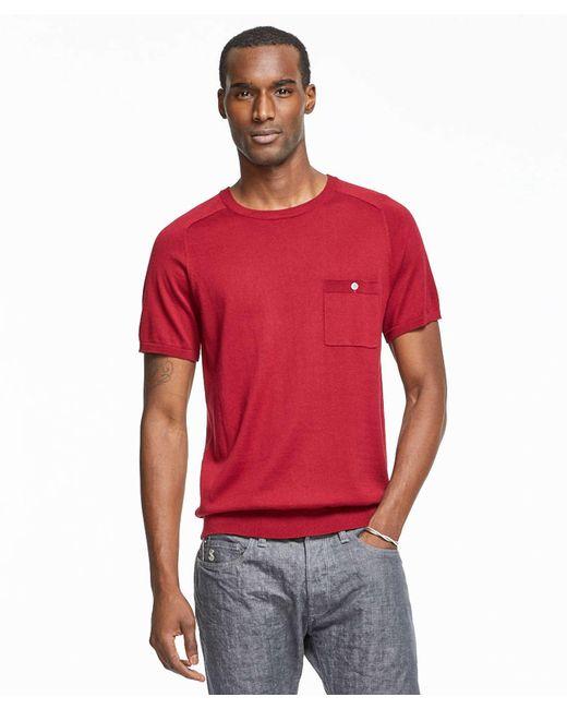 Todd snyder italian cotton silk t shirt jumper in maroon for Cotton silk tee shirts
