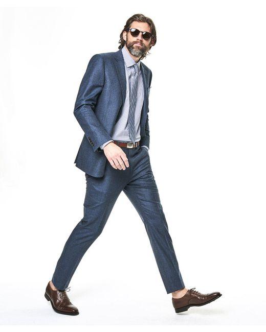 Todd Snyder - Sutton Suit Jacket In Italian Petrol Blue Heather Wool Flannel for Men - Lyst