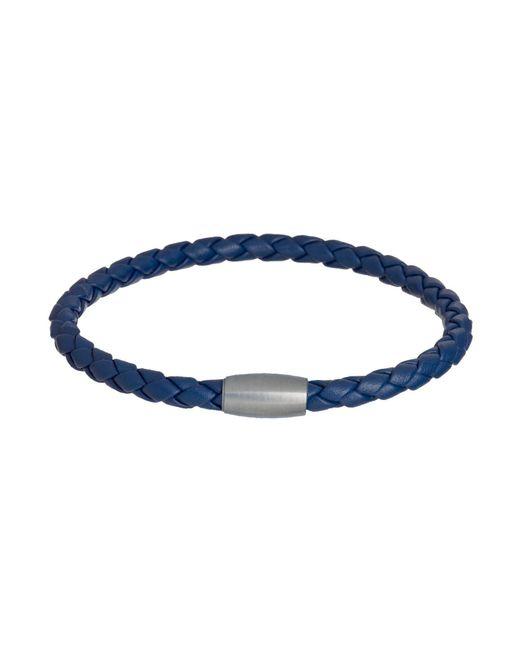 Jan Leslie   Woven Leather Bracelet Magnet Closure In Blue   Lyst