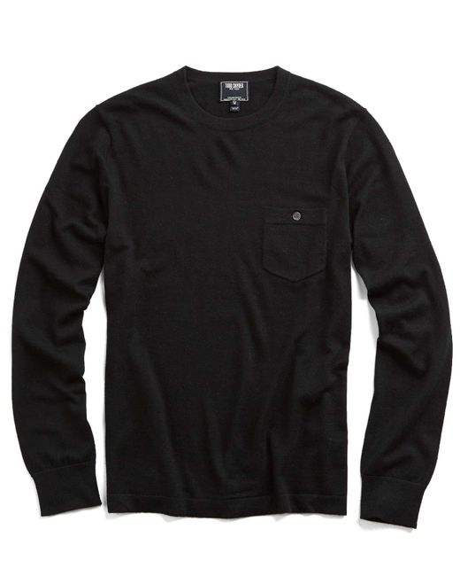 Todd Snyder Cashmere T-shirt Sweater In Black for men
