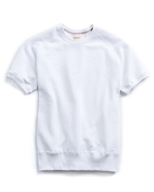 Todd Snyder - Short Sleeve Sweatshirt In White for Men - Lyst