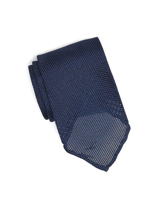 Drake's - Solid Blue Gabardine Tie for Men - Lyst