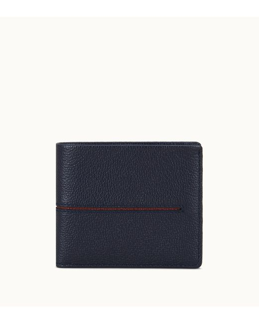 Tod's - Blue Wallet In Leather for Men - Lyst