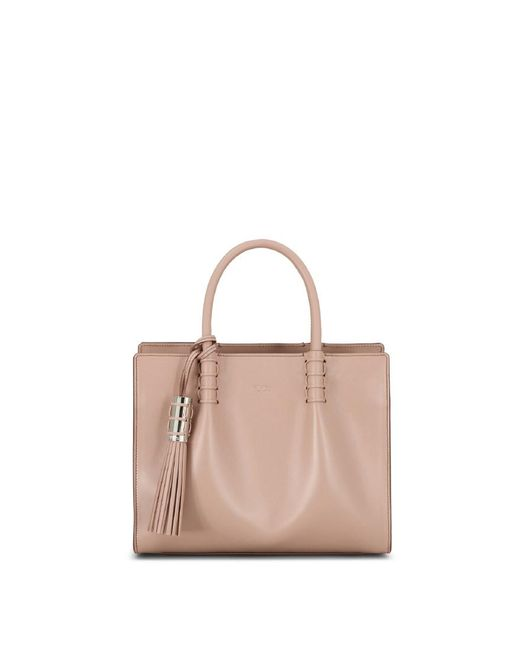 Tod's | Natural Mini Shopping Bag | Lyst
