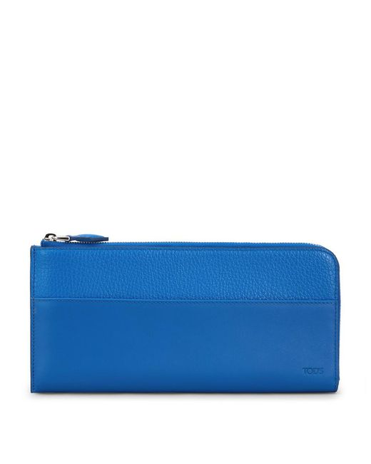 Tod's - Blue Leather Travel Document Holder - Lyst