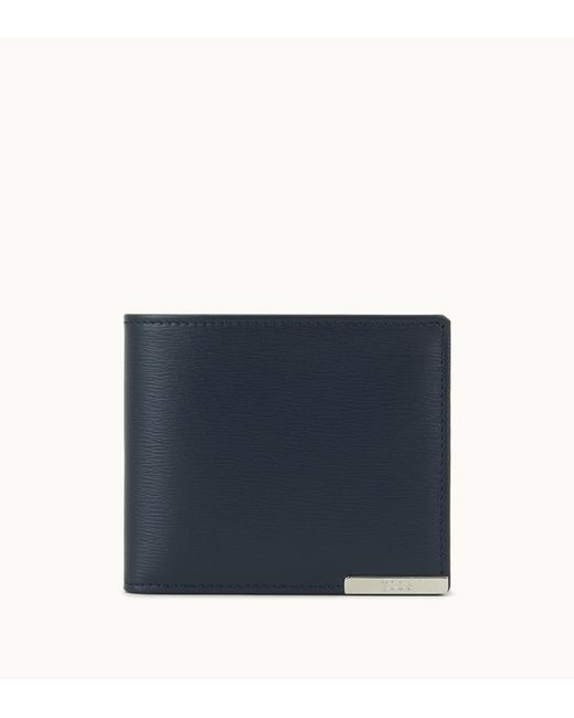 Tod's - Blue Leather Wallet for Men - Lyst