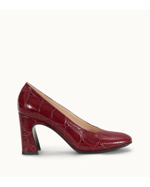Escarpin Slide en Cuir Tod's en coloris Red