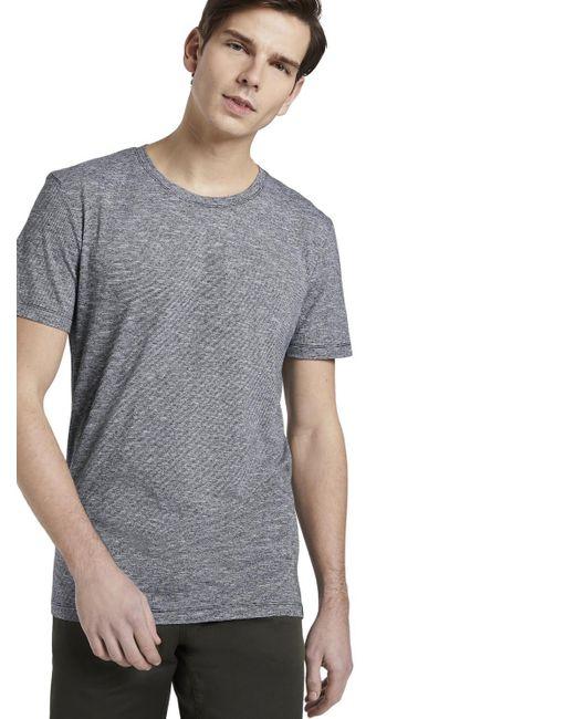 Tom Tailor DENIM Gestreiftes T-Shirt in Blue für Herren