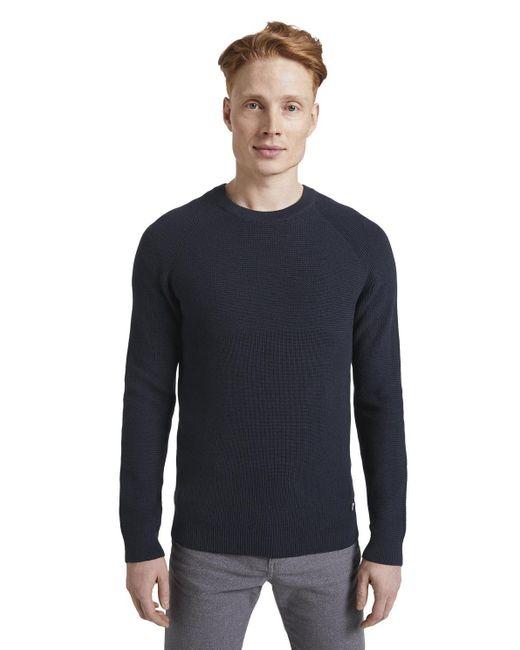 Tom Tailor DENIM Pullover mit Raglanärmeln in Blue für Herren