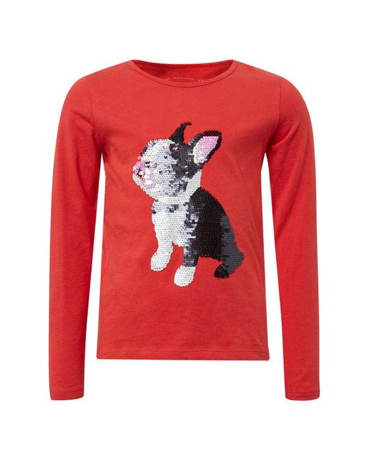 Tom Tailor Red FÃ1⁄4r Mädchen T-Shirts/Tops Langarmshirt mit PrintÂ