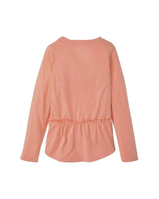 Tom Tailor Pink Mädchen Langarmshirt mit Fotoprint