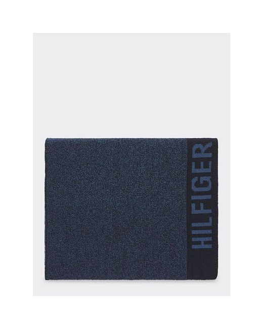 Tommy Hilfiger Blue Selvedge Scarf for men