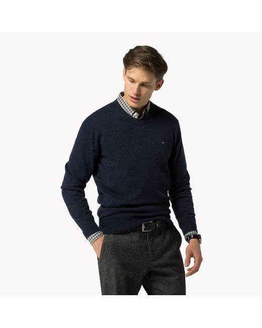 Tommy Hilfiger | Blue Nylan Sweater for Men | Lyst