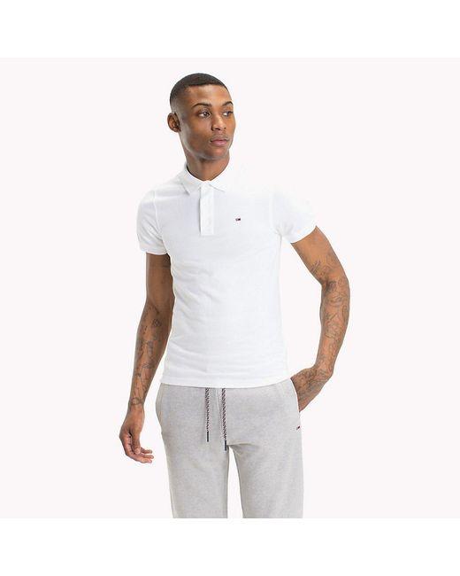 Tommy Hilfiger White Original Pique Polo Shirt for men