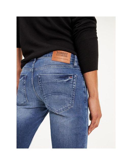 Tommy Hilfiger Scanton Low Rise Slim Fit Jeans Met Faded Look in het Blue voor heren