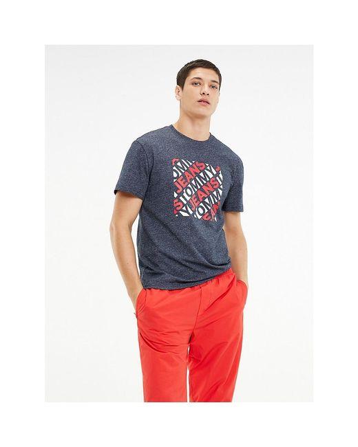 Tommy Hilfiger Multicolor Cotton Viscose Blend Logo T-shirt for men