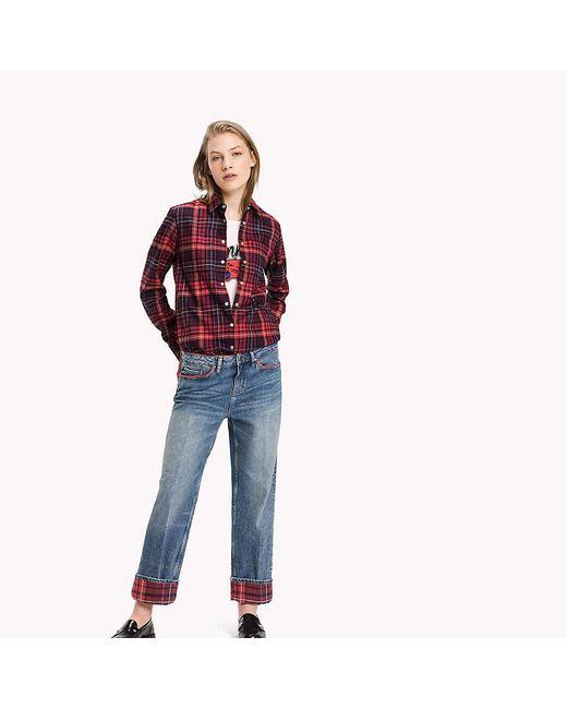 Tommy Hilfiger | Red Tommy Tartan Flannel Shirt | Lyst