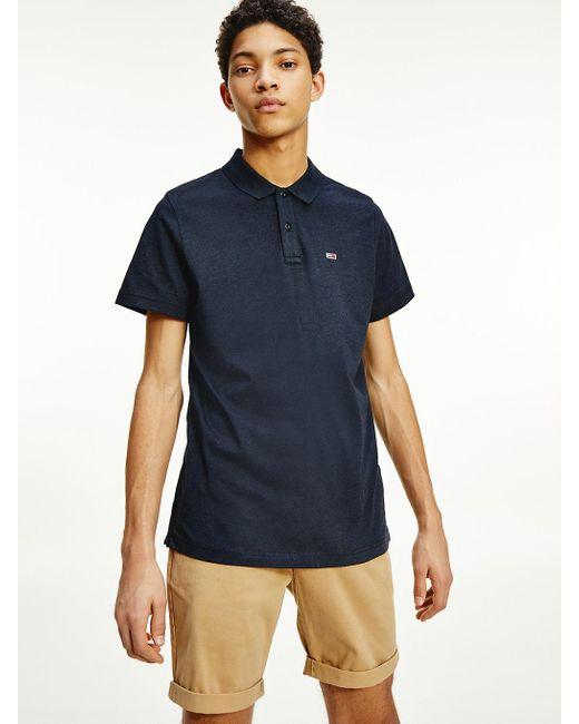 Tommy Hilfiger Essential Jersey Polo in het Black voor heren