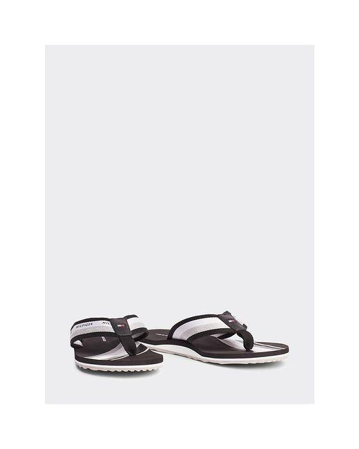 Tommy Hilfiger Black Colour-blocked Stripe Beach Sandals for men
