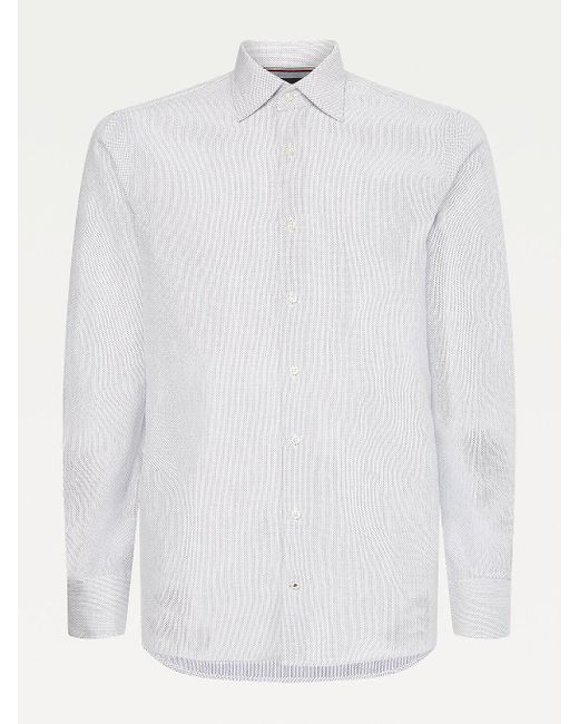 Tommy Hilfiger Blue Elevated Recycled Cotton Shirt for men