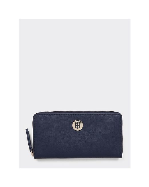 Tommy Hilfiger Blue Th Classic Monogram Wallet
