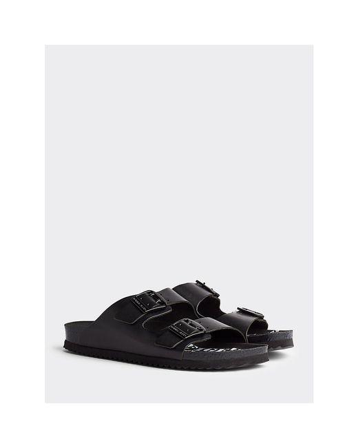 Tommy Hilfiger Black Footbed Print Sandals
