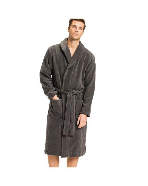 Tommy Hilfiger Mens Towelling Robe Bathrub