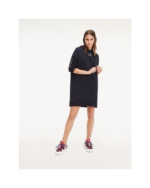 Tommy Hilfiger Blue Logo Hoody Sweatshirt Dress