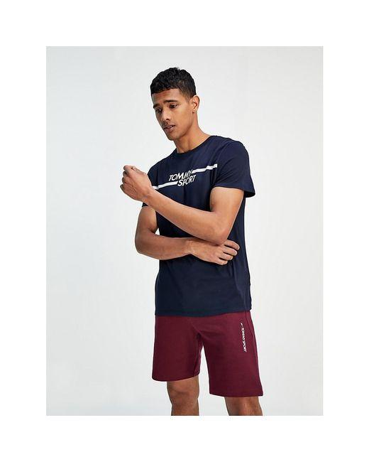 Tommy Hilfiger Blue Graphic Logo T-shirt for men
