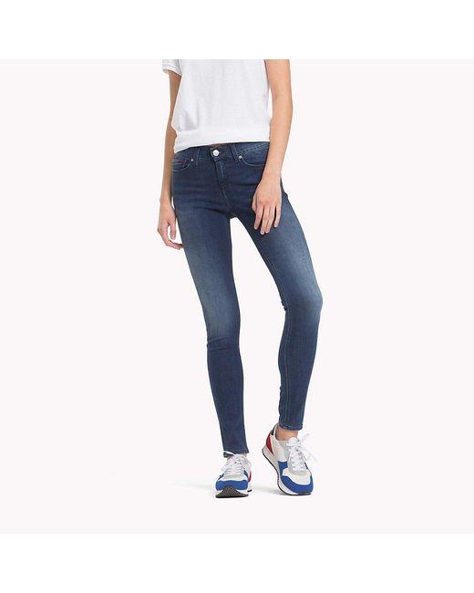 Tommy Hilfiger Blue Medium Rise Skinny Jeans