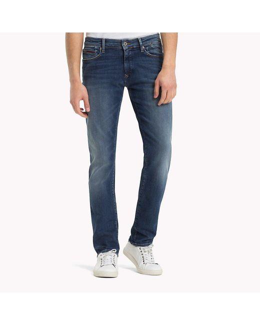 6da72453 Tommy Hilfiger - Blue Slim Stretch Denim Jeans for Men - Lyst ...