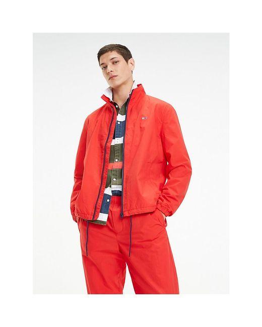 Tommy Hilfiger Red Zip-thru Tracksuit Jacket for men