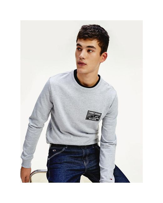 Tommy Hilfiger Gray Th Cool Black Label Logo Sweatshirt for men