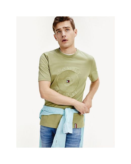 Tommy Hilfiger Green Compass Logo Relaxed Fit T-shirt for men